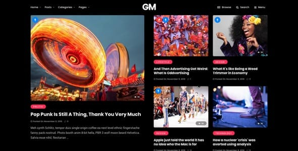 Grand Magazine News Blog WordPress