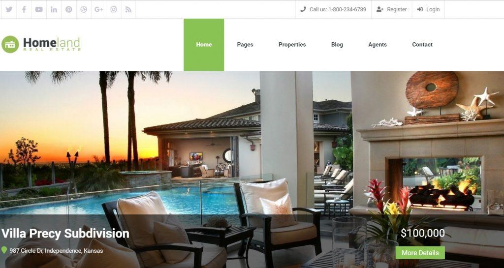 Homeland – Responsive Real Estate Theme for WordPress