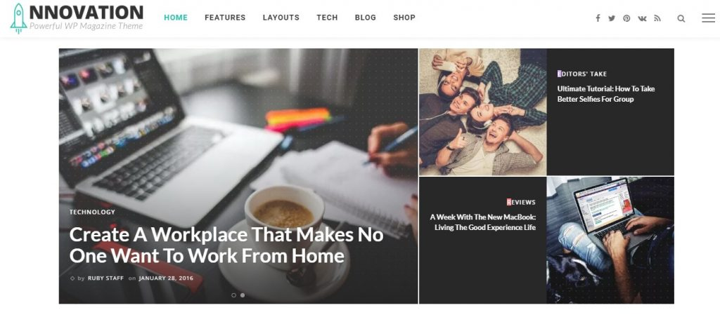 INNOVATION Multi-Concept News, Magazine & Blog Theme