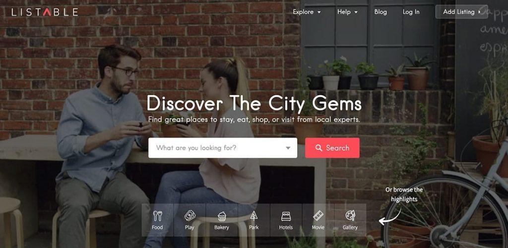 LISTABLE – A Friendly Directory WordPress Theme