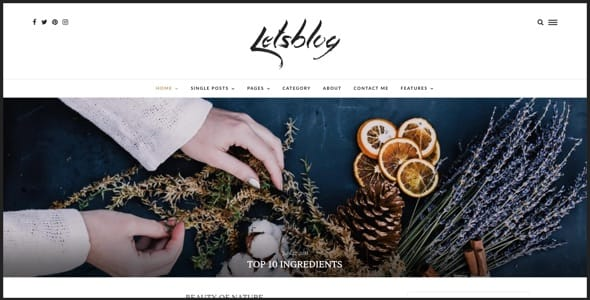 Lets Blog Responsive Blog WordPress Theme
