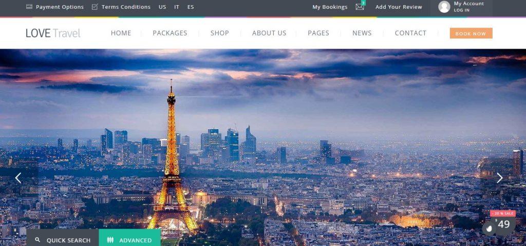 Love Travel – Creative Travel Agency WordPress