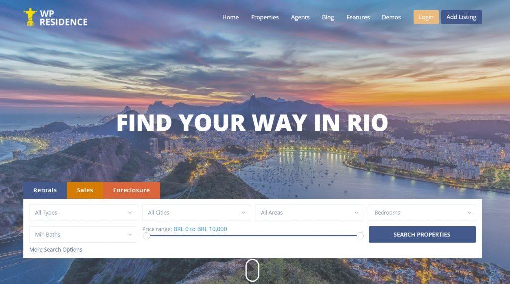 Residence – Best Real Estate WordPress Theme