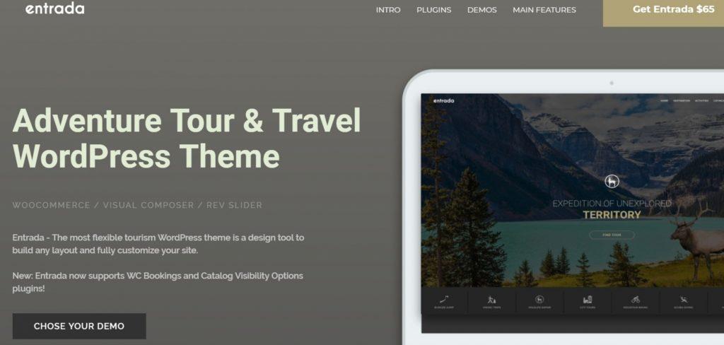 Tour Booking – Adventure Tour WordPress Theme – Entrada