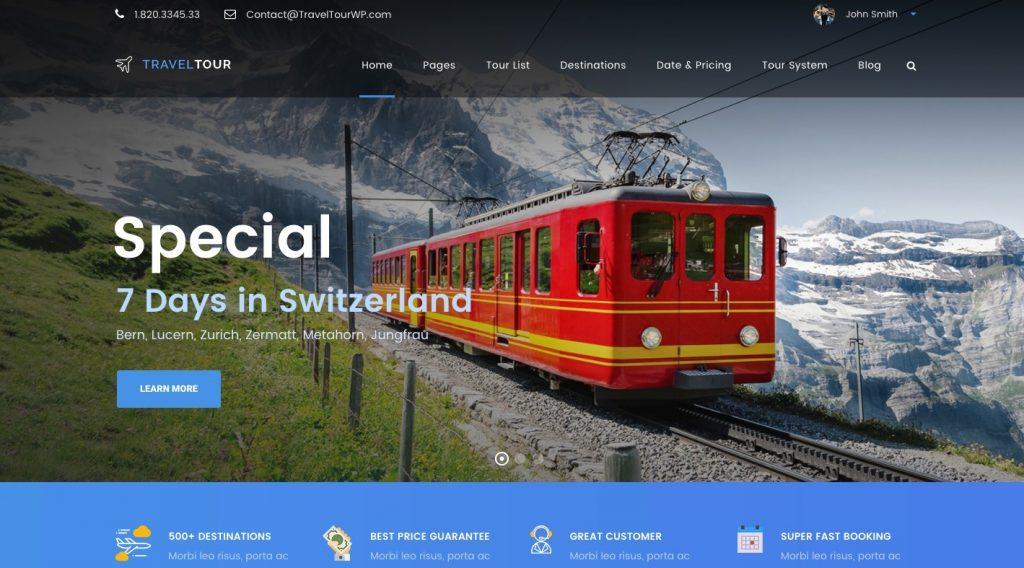 Travel Tour – Travel & Tour Booking Management System WordPress Theme