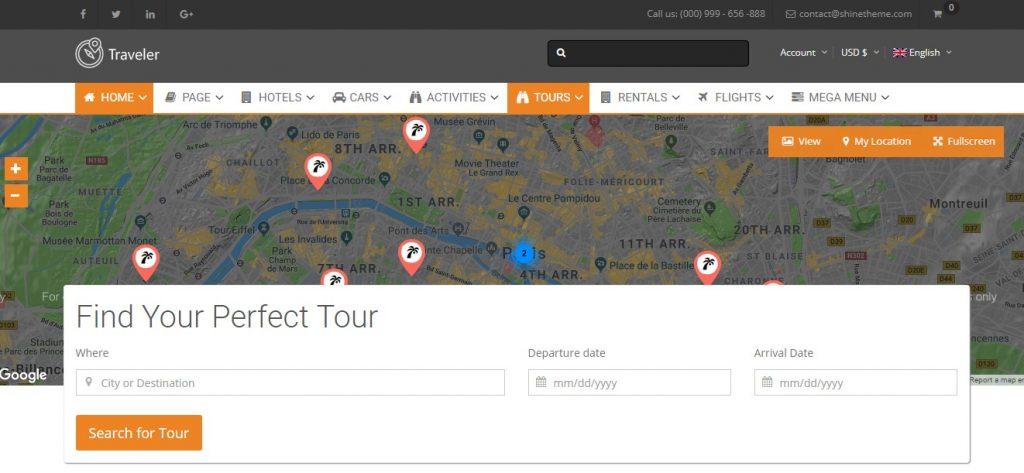 Traveler – TravelTourBooking WordPress Theme