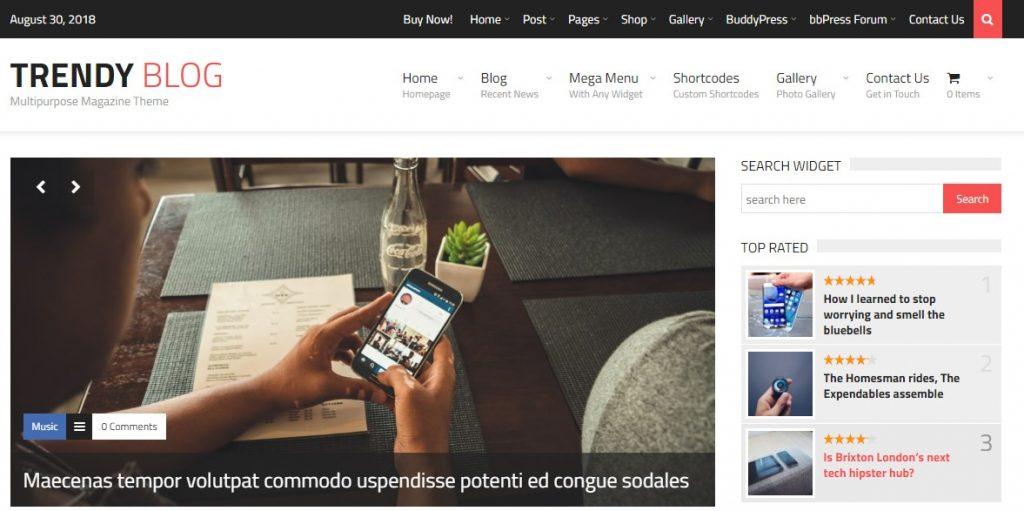 TrendyBlog – Multipurpose Magazine Theme