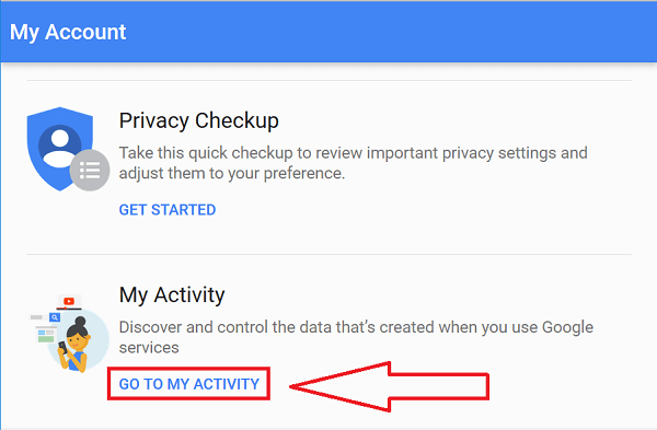 how to remove google search history